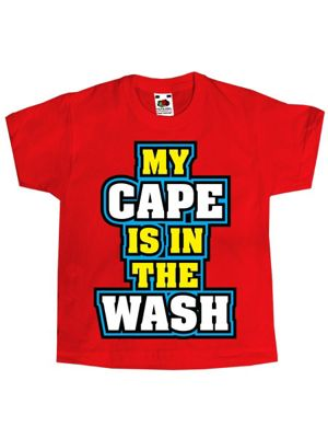 My Cape Is In The Wash Kids Red Kids T-Shirt