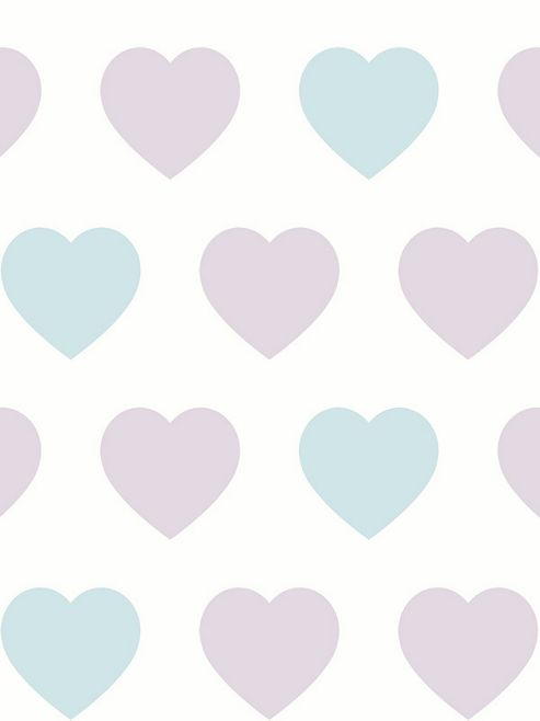 Arthouse Sweetheart Wallpaper Lilac / Teal 891400
