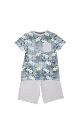 F&F Tropical Print T-Shirt and Shorts Set Multi 6-7 years