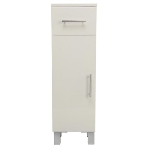 Compact Bathroom Door And Drawer Cabinet, White
