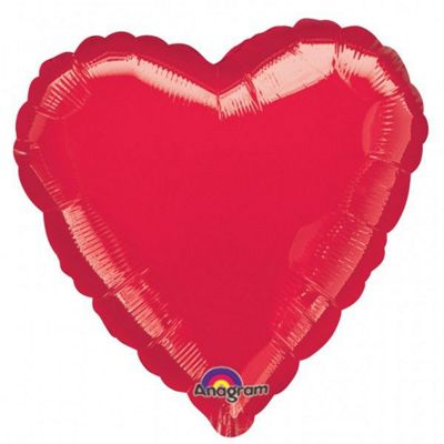 Metallic Red Heart Balloon - 18 inch Foil