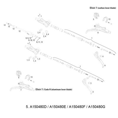 Avid MMX Bar Clamp (Stainless T25 Bolt) Elixir 9/7/CR Mag/X0/XX Black (1pc)
