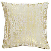 Tesco Metallic Print Gold Cushion