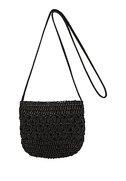 F&F Straw Cross-Body Bag