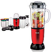 8 in 1 Red Multifunctional Blender Chopper Food Processor Smoothie Maker Mixer