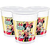 Minnie Mouse Cafe Cups - 180ml Plastic Party Cups - 8 Pack