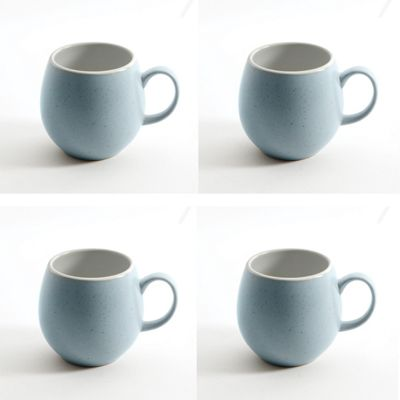 London Pottery Pebble Mug Light Blue, Set of 4