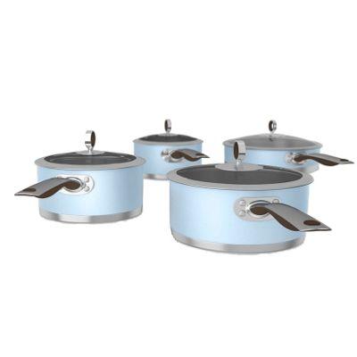 Morphy Richards Special Edition 4 Piece Pan Set - Azure