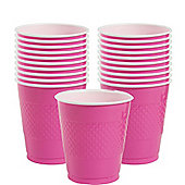 Hot Pink Cups - 355ml Plastic Party Cups - 20 Pack