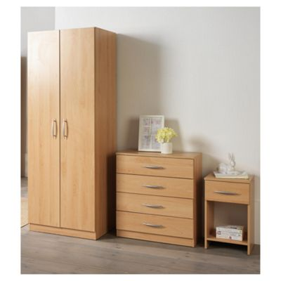 Ashton Double Wardrobe Furniture Set, Beech