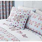 Embriodered Butterfly Duck Egg Cushion Cover 43x43cm