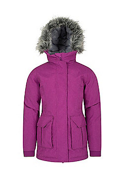 Zakti Kids Freeze Over Down Long Jacket - Purple