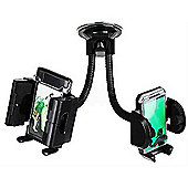 time2 Black Twin Car Mobile Phone / Sat Nav / PDA Windscreen Holder