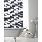 Country Club Shower Curtain Deco Grey 180 x 180cm
