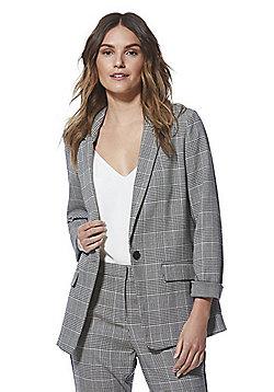 F&F Checked Blazer - Black & White
