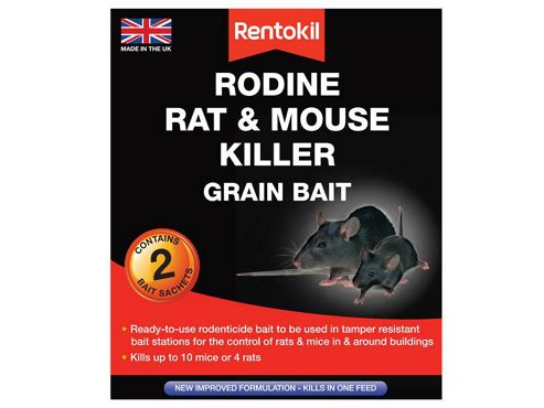 Rentokil Rodine Mouse & Rat Killer Grain Bait Pack of 2 Sachets
