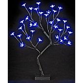 LED Cherry Blossom Christmas Tree - Blue