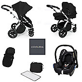 Ickle Bubba Stomp V3 AIO Maxi Cosi Travel System Black (Silver Chassis)