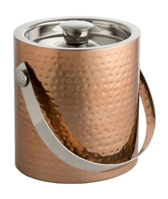 Epicurean Ice Bucket with Tongs, Copper