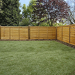 Mercia Waney Edge Lap Fence Panel 3ft Dipped