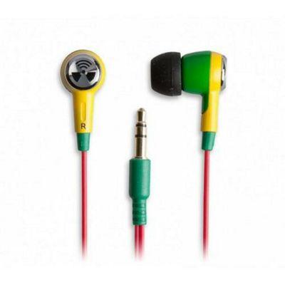 iFrogz Earpollution Ozone Earphones Green, Yellow, Red