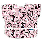 Junior Bib Girls Pink Birdcages