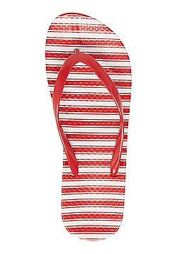 F&F Striped Flip-Flops - Red