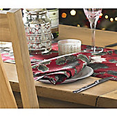 Christmas Red Poinsettia Napkins - Pack of 4