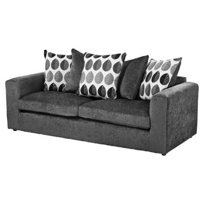 Whitton Scatterback Large 3 Seater Sofa, Dark Grey