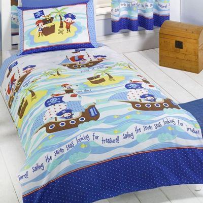 Ship Ahoy, Pirate Double Duvet & Pillowcases Bedding Cover Set