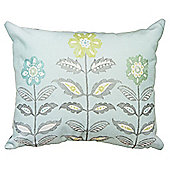 Dreams n Drapes Teal Montague Boudoir Cushion Cover - 28x38cm