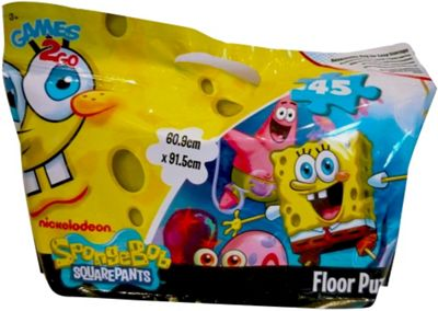 Spongebob Squarepants In a Foil Bag 45 Piece Jigsaw Puzzle Game