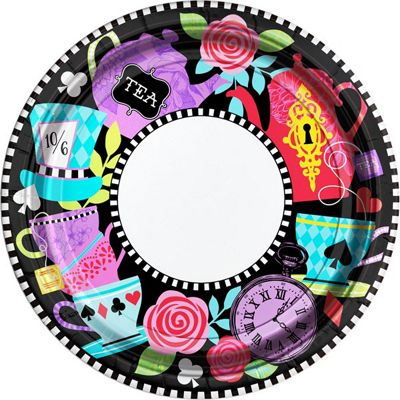 Mad Tea Party Plates - 27cm Paper Party Plates