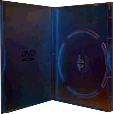 Slimline Slim Single DVD Storage Case 5 Pack Black