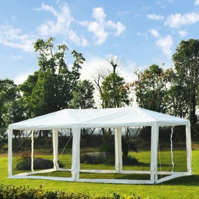 Outsunny 6 x 3m Outdoor Gazebo Marquee Party Wedding Tent w/ Mesh Mosquito Netting