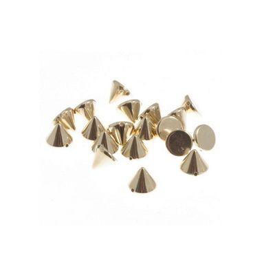 Impex Gold Sew On Studs 10 x 7mm 50pk