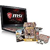 """MSI GE62 15.6"""" Intel Core i5 GeForce GTX 1050Ti 8GB RAM 1000GB 128GB SSD Windows 10 Gaming laptop Black"""