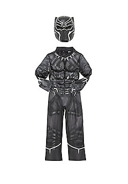 Marvel Avengers Black Panther Fancy Dress Costume - Black