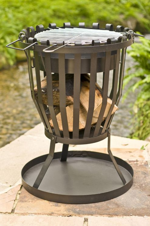 LA HACIENDA STEEL FIREBASKET WITH GRILL