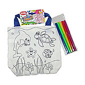 Animal Antics Colour Your own Tote Bag with Pen Sea