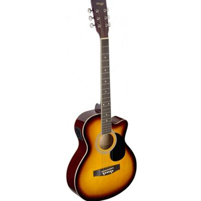 Stagg Auditorium Electro-Acoustic Guitar - Sunburst - with 6 Months Free Online Lessons