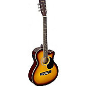 Stagg Auditorium Electro-Acoustic Guitar - Sunburst