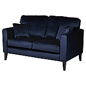 Fox & Ivy Dexter Velvet Medium 2.5 Seater Sofa, Navy