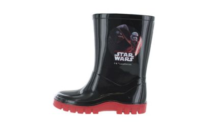 Boys Star Wars The Last Jedi Black & Red Wellies Rain Boots Sizes UK Infant 7