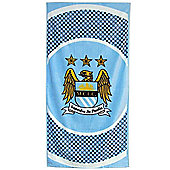 Manchester City Fc 'Bullseye' Football Printed Beach Towel