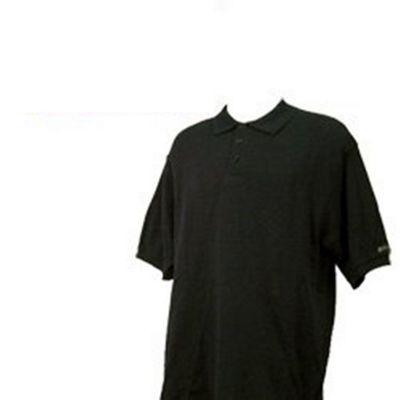 Confidence Pique Mens Golf Polo Shirt Black S