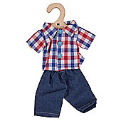 Bigjigs Toys Checked Shirt and Jeans 34cm - Doll Outfit