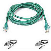 Belkin 1m Cat5 RJ45 Snagless Patch Cable Green