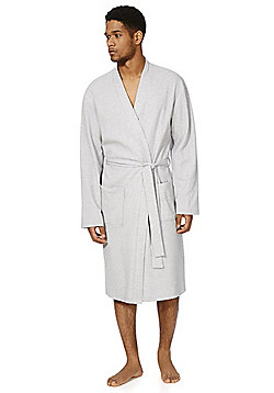 F&F Waffle Textured Dressing Gown - Grey