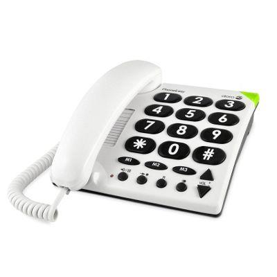 Doro PhoneEasy 311c Corded Telephone (White)